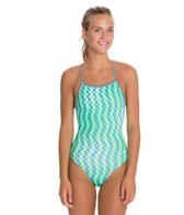 Dolfin Uglies Splashdots Print Womens V-2 Back Swimsuit