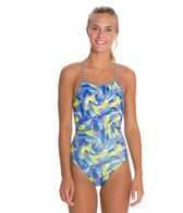 Dolfin Uglies Rivoli Print Womens V-2 Back Swimsuit