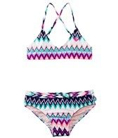 Roxy Girls' Dream Catcher Criss Cross Tri Set (7-16)