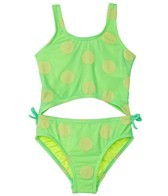 Hula Star Girls' Novelty Dot Monokini (2T-4T)