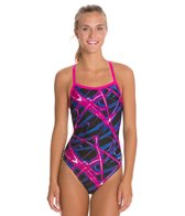 Waterpro Lightning Thin Strap One Piece Swimsuit