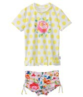 Seafolly Girls Roses Are Pink UV Sunvest Set (6mos-7yrs)