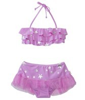 Seafolly Girls La Mermaid Ruffled Skirtini Set (6mos-7yrs)