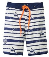 Tiger Joe Boys' Sergeant Shark Retro Boardie Short (6mos-10yrs)