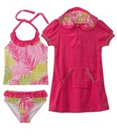 Cabana Life Girls' Palm Springs Swim & Terry Cover Up Set (6mos-14yrs)