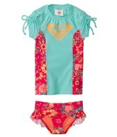 Roxy Girls' Beach Bound S/S Rashguard Set (3-6)