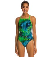 Waterpro Matrix Thin Strap One Piece Swimsuit