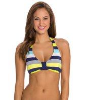 Jag Santa Lucia Stripe Bra Size Halter Bikini Top