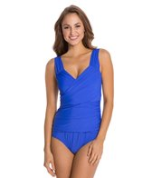 Athena Finesse Solids Banded One Piece