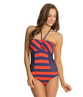 Splendid Marcel Stripe Bandeau One Piece