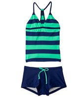 Splendid Girls' Marcel Stripe Tankini Boyshort Set (7-14)