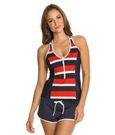 Nautica Safe Haven Zip Front Tankini Top