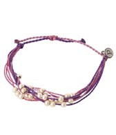 Pura Vida Platinum Beaded Purple