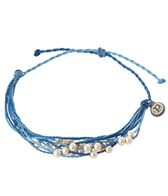 Pura Vida Platinum Beaded Blue