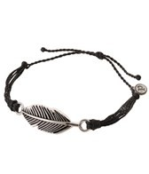 Pura Vida Silver Feather Black