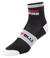 Castelli Men's Rosso Corsa 6 Cycling Socks