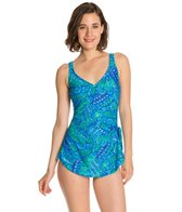 Maxine Ethnic Twist Wide Strap Sarong One Piece