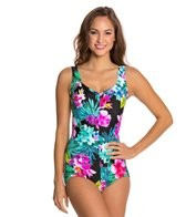 Maxine Waikiki Shirred Front Girl Leg One Piece