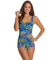 Maxine Garden Shirred Front Girl Leg One Piece