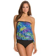 Maxine Garden Bandeau Blouson Tankini Top