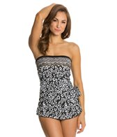 Maxine Border Skin Bandeau Sarong One Piece