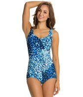 Maxine Feeling Blue Shirred Front Girl Leg One Piece
