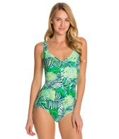 Maxine Tropical Breeze Side Shirred One Piece