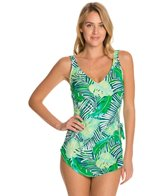 Maxine Tropical Breeze Wide Strap Sarong One Piece