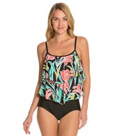 Maxine Linear Flower Double Tier One Piece