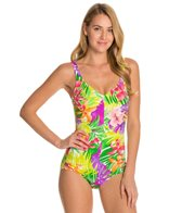 Maxine Hawaii Vibe Side Shirred One Piece