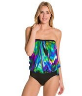 Maxine Wave Ride Bandeau Blouson Bikini Top