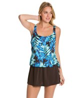 Maxine Tonal Leaf Faux Skirtini One Piece