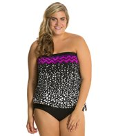 Maxine Plus Size In The Groove Blouson Tankini Top