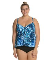 Maxine Plus Feeling Blue Fly Away Tankini Top