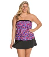 Maxine Plus Ikat Forever Bandeau Faux Skirtini