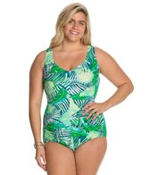 Maxine Plus Tropical Breeze Side Shirred One Piece