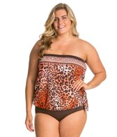 Maxine Plus Size Borderline Bandeau Blouson Top