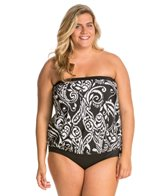Maxine Plus Size So Chic Bandeau Blouson Top