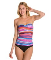 24th & Ocean Savanna Shirred Side Bandeaukini Bikini Top