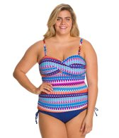 24th & Ocean Plus Size Savanna Bandeaukini Top