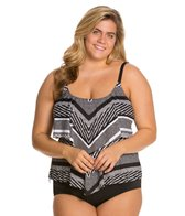 24th & Ocean Plus Size Rio Ruffled Tankini Top