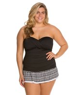 24th & Ocean Plus Size Baha Bandeau Swimdress
