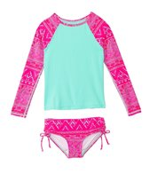 Billabong Girls' Hippie Grom L/S Rashguard Set (4-14)
