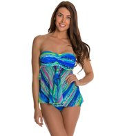 Beach Diva Electric Feel Mesh Twist Bandeaukini Top