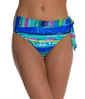 Beach Diva Electric Feel Mesh Banded High Waist Bottom