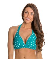 Beach Diva Hot Dot Molded Halter Bikini Top
