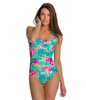 Beach Diva Island Hop Mesh Twisted Molded One Piece