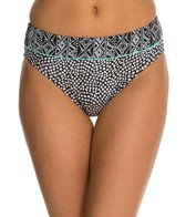 Beach Diva Set in Stone Banded High Waist Bikini Bottom