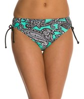 Beach Diva Paisley Passion Side Adjustable High Waist Bikini Bottom