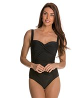 Beach Diva Fancy Frills Twist Molded One Piece